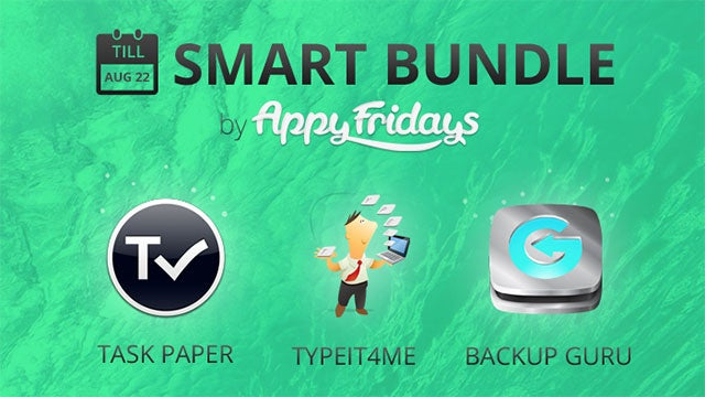 AppyFridays Smart Bundle Offers TaskPaper, TypeIt4Me, and More for $10