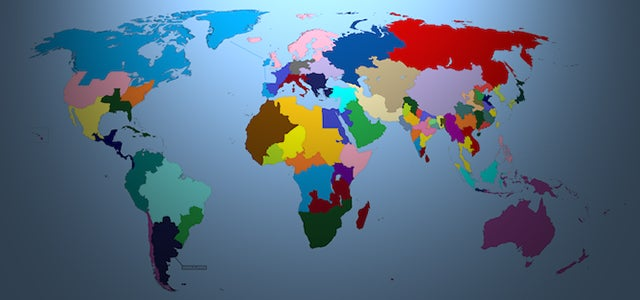 The map of the world if every country had a population of 100 million