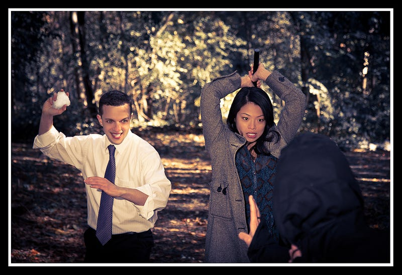 Ninja attack engagement photos add much-needed katanas to marriage