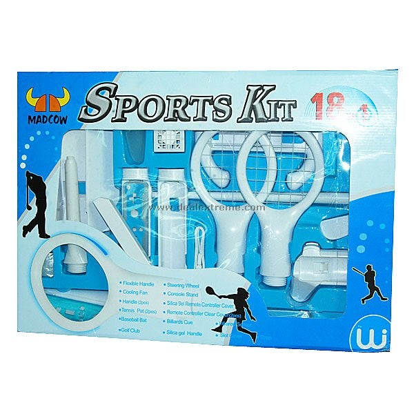 Wiimote Complete Sports Pack Includes 18 Accessories in One Box