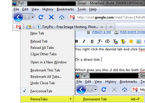 Set Up Space-Saving, Permanent Gmail and Reader Tabs in Firefox