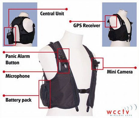 Surveillance Vest Transmits Video Evidence Via 3G