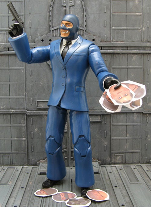 Team Fortress 2 Action Figure Has Many Faces