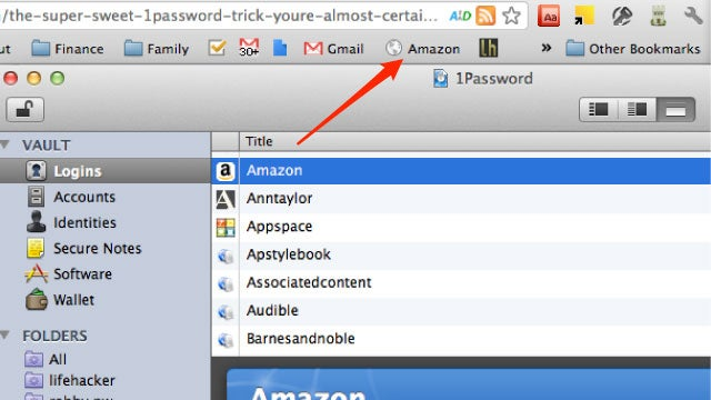 Drag 1Password Logins to The Bookmarks Bar for Instant One-Click Logins