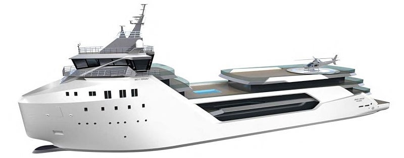 How to Turn a Supply Vessel Into a $62 Million Luxury Yacht
