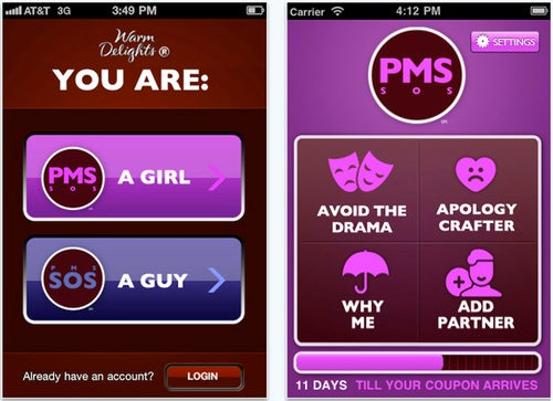 Betty Crocker's PMS App Knows When You're Emotional, Bloated And Need Chocolate