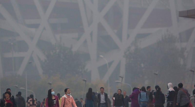 La contaminación del aire en China ya supera 56 veces el límite máximo