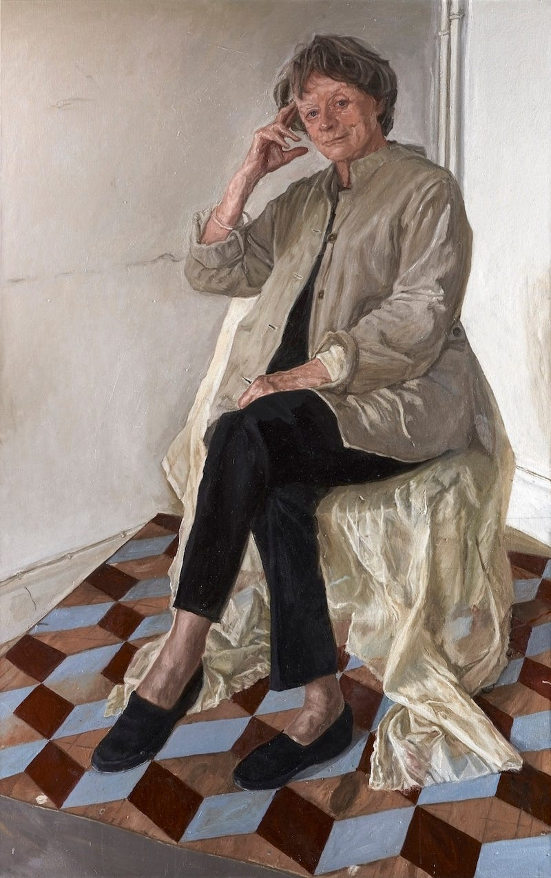 Maggie Smith is an Annoyed Zombiein National Gallery Portrait