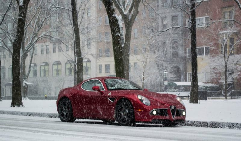 A Boston Blizzard Means Fun Time For This Alfa Romeo 8C Competizione