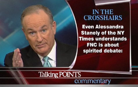 Bill O'Reilly on 'Alessandra Stanely'