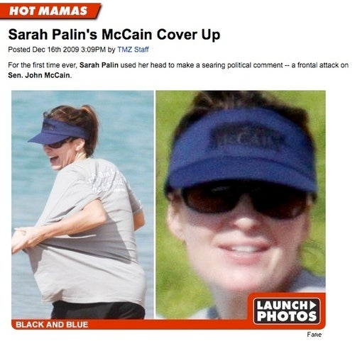 Sarah Palin Only Blots Out the Names of Those She Loves