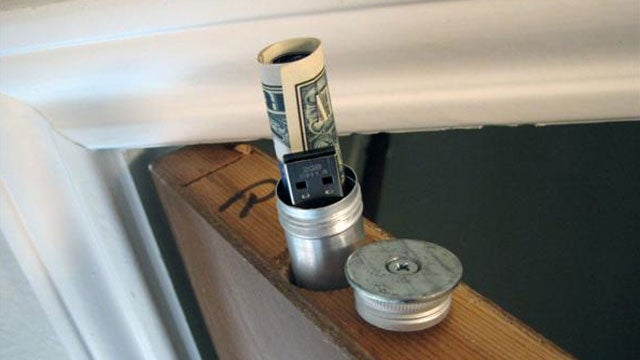 Make A Hidden Doortop Stash