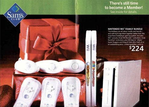 Sam's Club Selling Wii For $224 (With 3 Controllers + 3 Nunchuks + 2 Games)