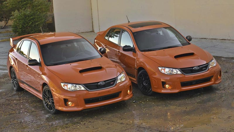 "The ""Orange and Black"" Edition Subaru WRX is both ""Orange"" and ""Black"""