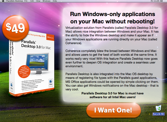 Dealzmodo: Parallels Desktop 3.0 For $39/$49