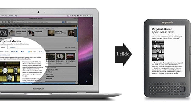 SENDtoREADER Instantly Sends Web Pages to Your Kindle for Later Reading