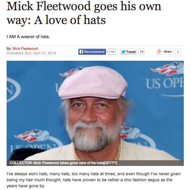 """Mick Fleetwood: """"I Am a Wearer of Hats"""""""