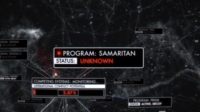 Person of Interest is mashing all my Neuromancer buttons