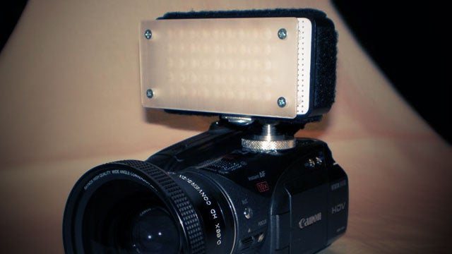 Make a Powerful LED Camera-Mounted Light on the Cheap