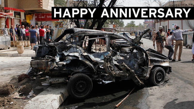 Happy Tenth Anniversary of the Iraq Invasion: 50 Dead in a Dozen Bombings