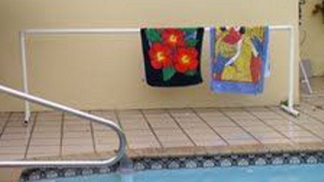 Build A Pvc Pool Towel Rack