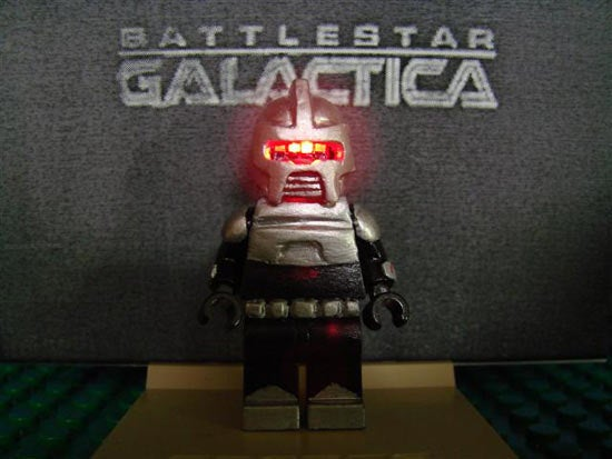 LEGO Battlestar Galactica Cylon Minifig Beats Star Wars Minifig Any Day