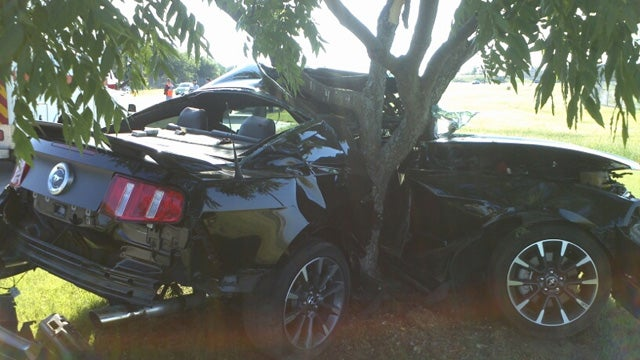Driver Wraps New Mustang Around Tree After Owning It For Only Eight Hours