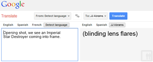 If Google Translate Could Translate Star Wars to English