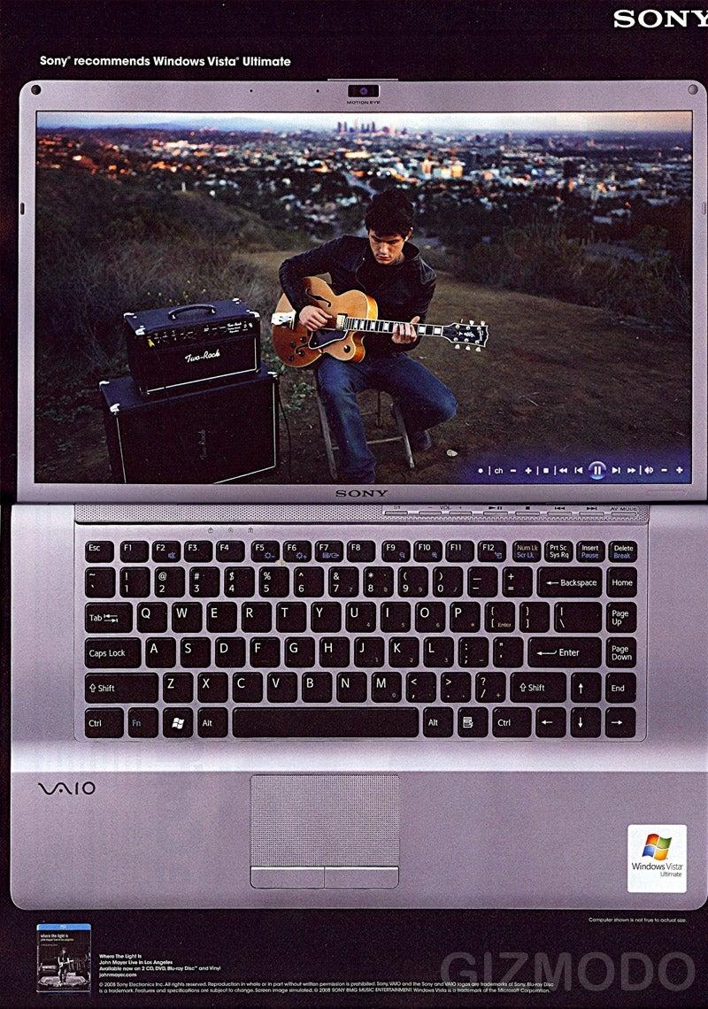 John Mayer Cheats On Apple With a Sony Vaio