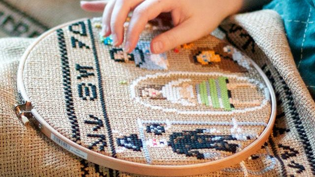 This $20,000 30-foot tapestry tells the entire Star Wars saga
