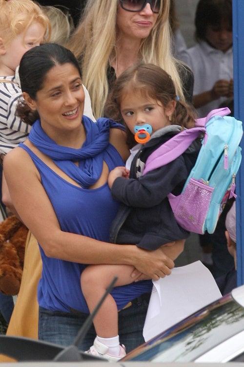 Salma Hayek Is A True Blue Mom