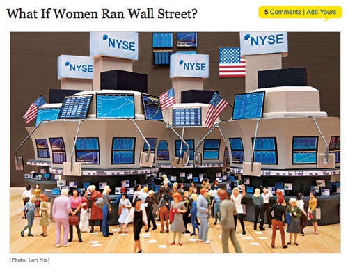 How Wall Street's Men Act Like Menstruating Women