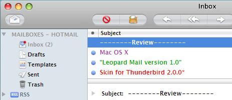 Skin Thunderbird to Look Like Leopard Mail