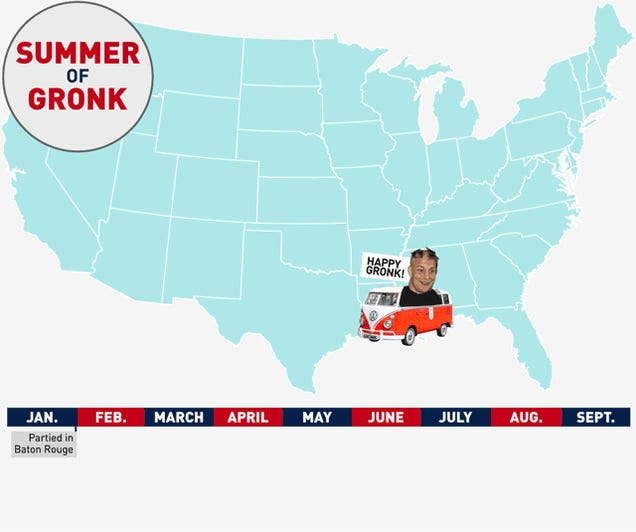 Map: The Long Summer Of Gronk