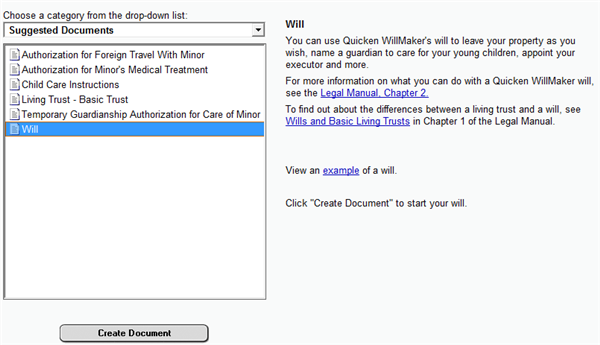 Make Your Own Will with Quicken WillMaker