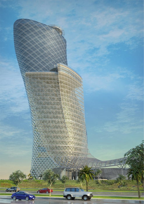 Capital Gate Tower is Four Times as Crooked as the Leaning Tower of Pisa