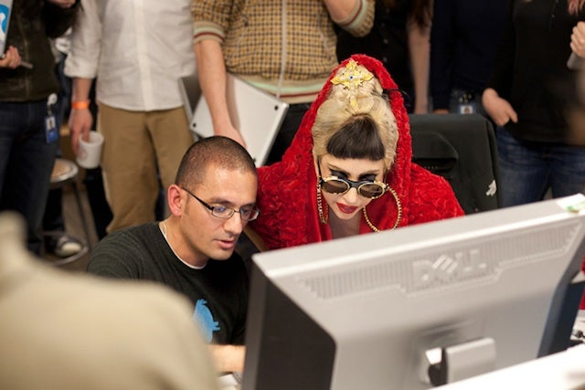 Lady Gaga's Tech Tour Stops by Twitter