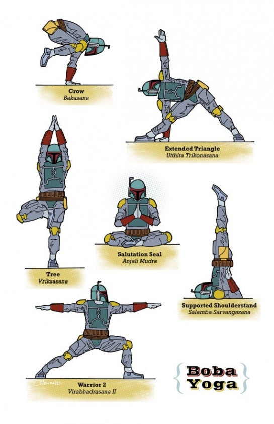 Learn yoga with pirates, zombies, and space men