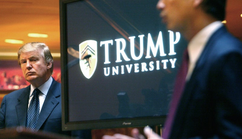 Donald Trump Makes Ominous Promise to Reopen Trump University, Which For Legal Reasons He Cannot Call a University