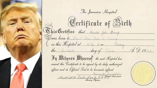 Donald Trump's Birth Certificate Is Clearly a Fake