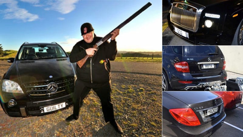 MegaUpload Founder Claims He's 'Evil,' 'Guilty,' And 'God' On His License Plates