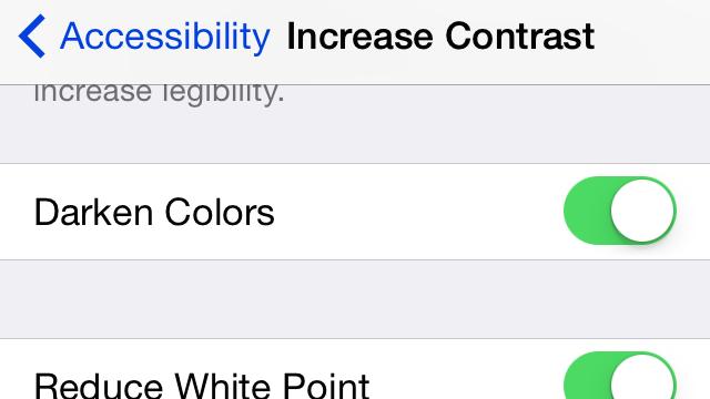Tweak These Settings to Darken iOS 7
