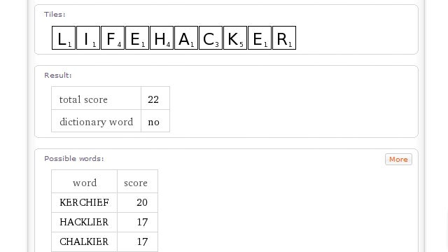 Use Wolfram Alpha to Find Scrabble Words