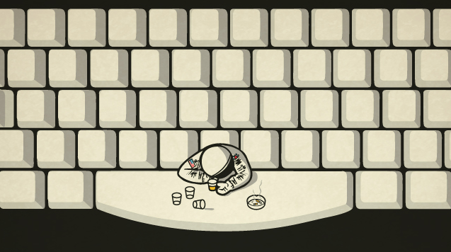 Getting Drunk at the Spacebar