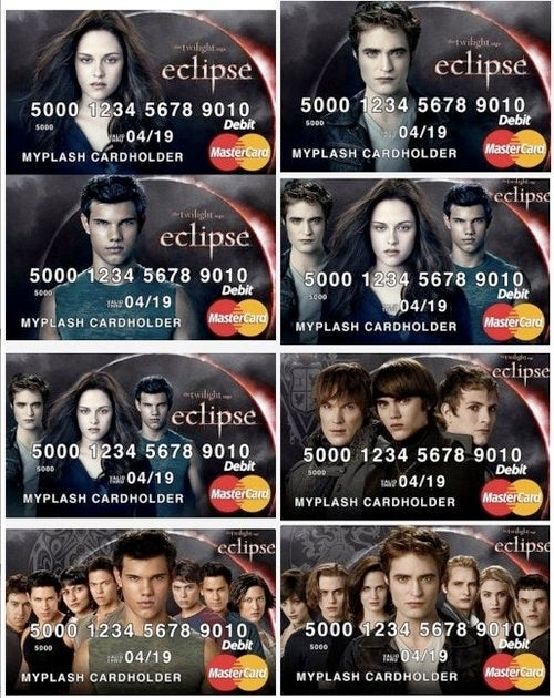 Add vampire credit cards to the pile of disturbing things Twilight's inspired