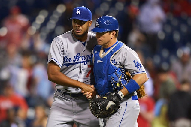 Dodgers Catcher Hurts Himself Celebrating Josh Beckett's No-Hitter