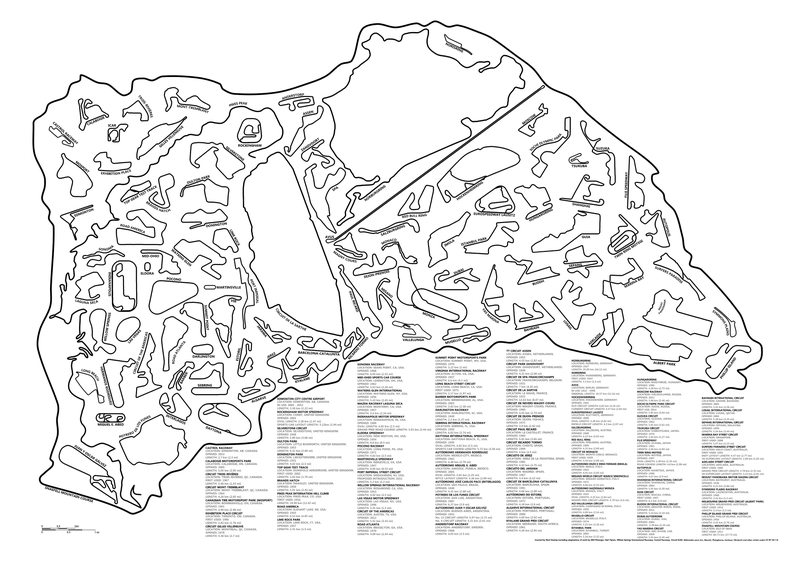 Amazing Graphic Shows How Every Great Race Track Fits Inside This One