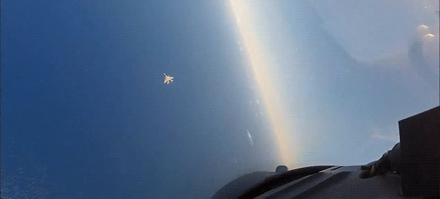 Watch the best US Air Force combat squadron dogfighting like in Top Gun