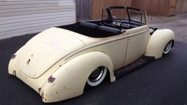 Slammed 1940 Ford Convertible With Modern V8 Power Is Sure To Turn Some Heads