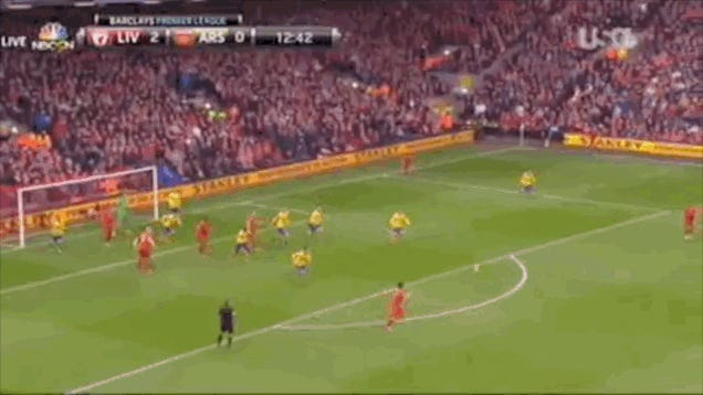 Luis Suarez Almost Nets Goal Of The Season